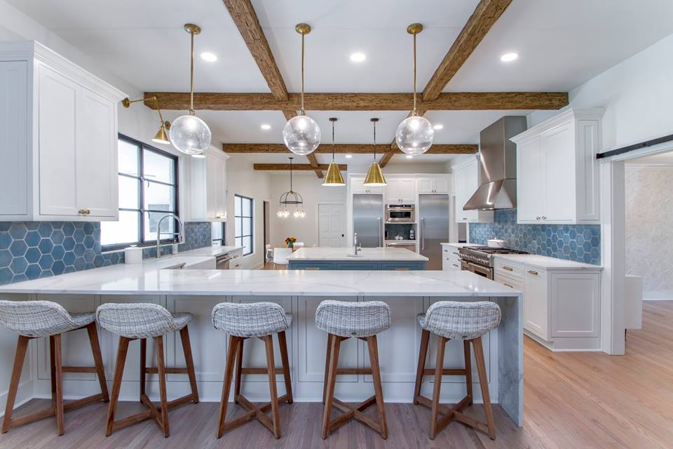 How To Integrate Ceiling Beams Into Your Kitchen Az Faux