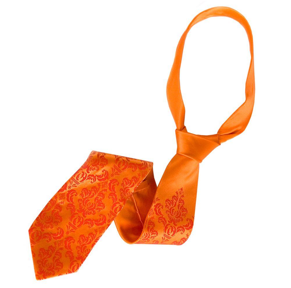 Testimonial: Elegant Pop of Orange, Damask Wedding Ties