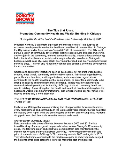 Dorothy Brown for Mayor of Chicago 2019 - The most qualified