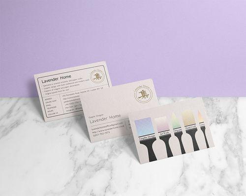 Lavender Home artcraft shop business card design