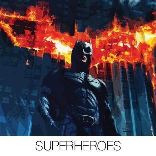 Superheroes Canvas Prints