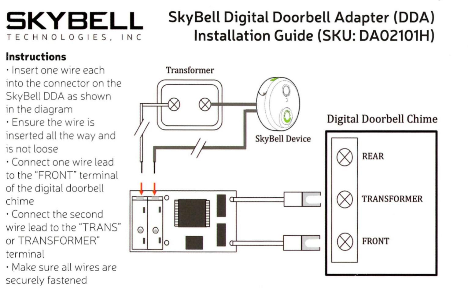 Skybell Digital Doorbell Adapter