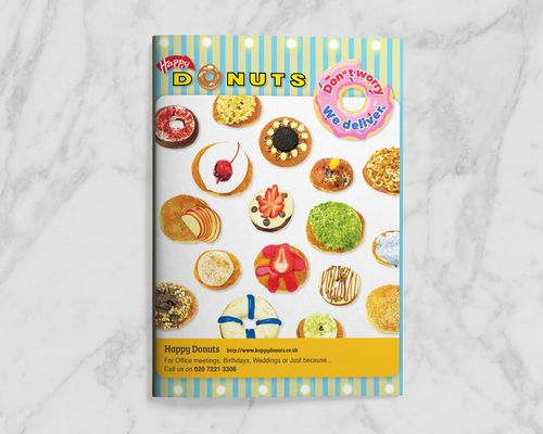 Donuts Menu Design