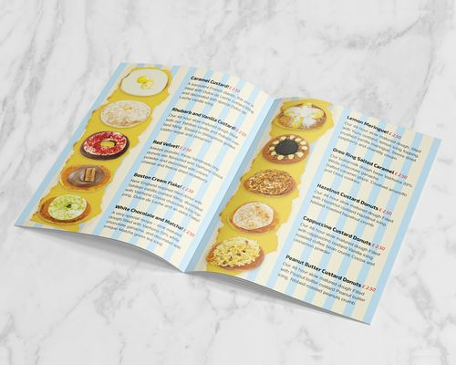 Donuts Menu Design
