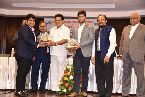 Blueprint education educate empower evolve the founder and ceo of blueprint education mr nitin rastogi receiving distinguished young publisher award in 2018 malvernweather Choice Image