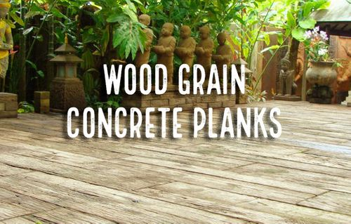 Image result for wood grain concrete floor